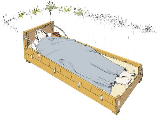 Fig. 8 Reconstruction of bed burial in grave 1468