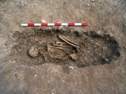 Fig. 7: Crouched burial in G1397