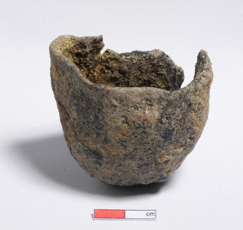 A fine crucible was found in one of the pits. It would have been used in the manufacture of copper or silver objects.