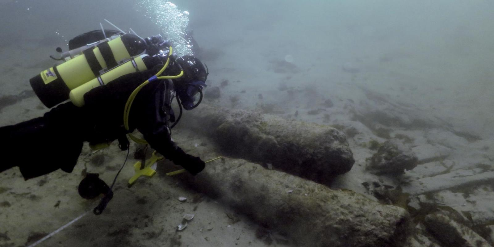 Diver recording on the Drumbeg wreck site