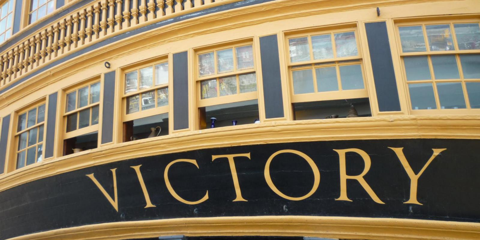 Stern of the HMS Victory