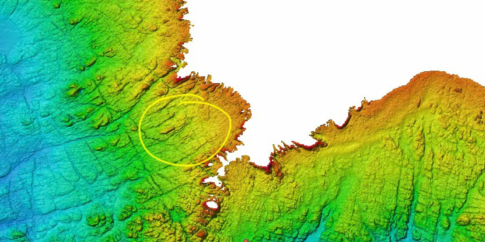 Bathymetry of the seabed