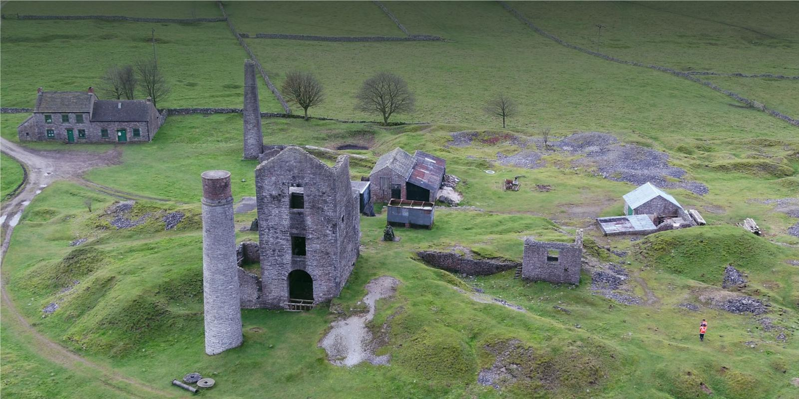 UAV image of heritage in the lanscape