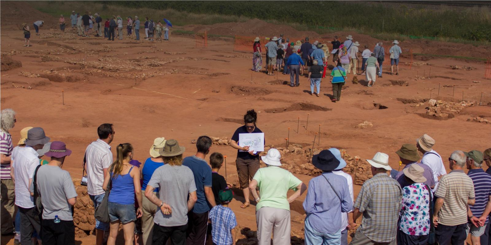 Open day on site to engage the local community in archaeology
