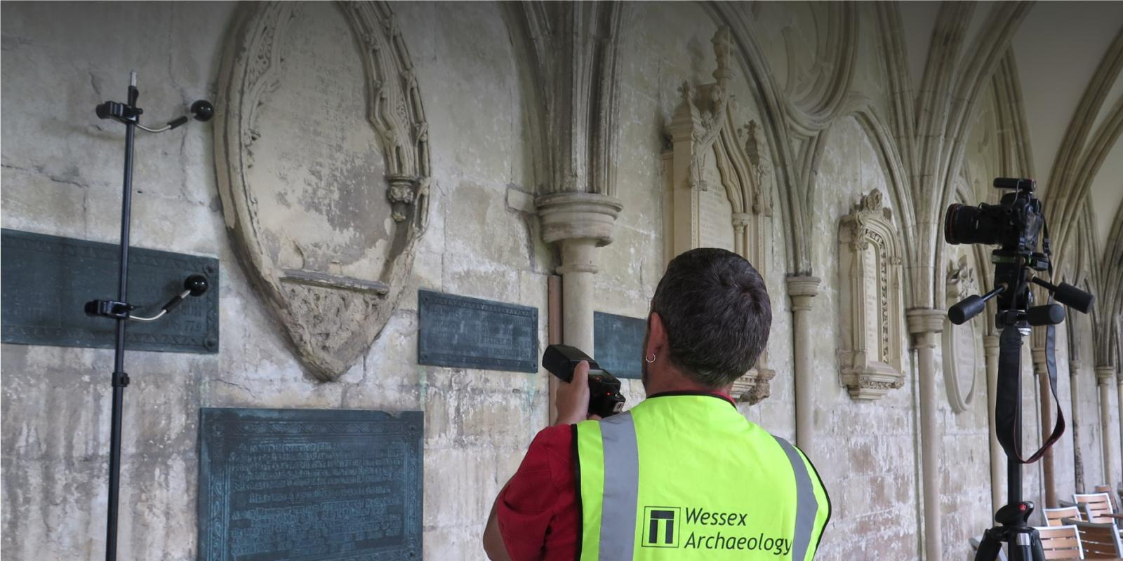 Reflective transformation imaging underway at Salisbury Cathedral