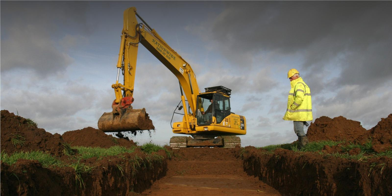 Trenching Machines Working : Evaluation trial trenching wessex archaeology