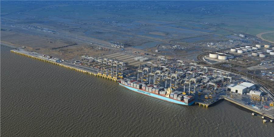 DP World London Gateway from the air
