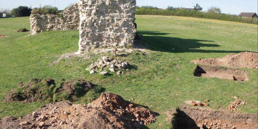 Excavations at the site of King John's Palace, Clipstone