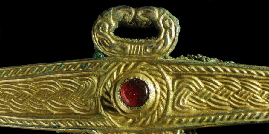 Late 7th century gilded copper-alloy fitting
