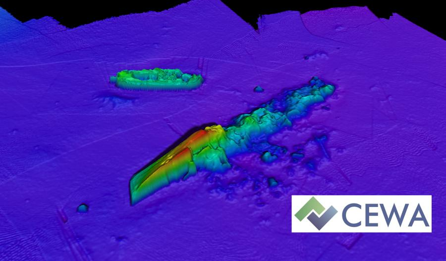 Multibeam image of shipwreck Wessex Archaeology heads to New York