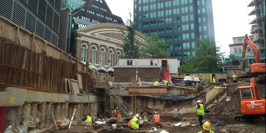 Excavations at Fenchurch Street