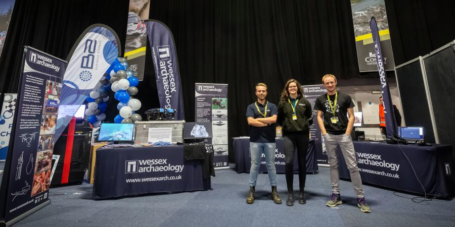 The Wessex Archaeology stand at the Big Bang Fair, North Wales