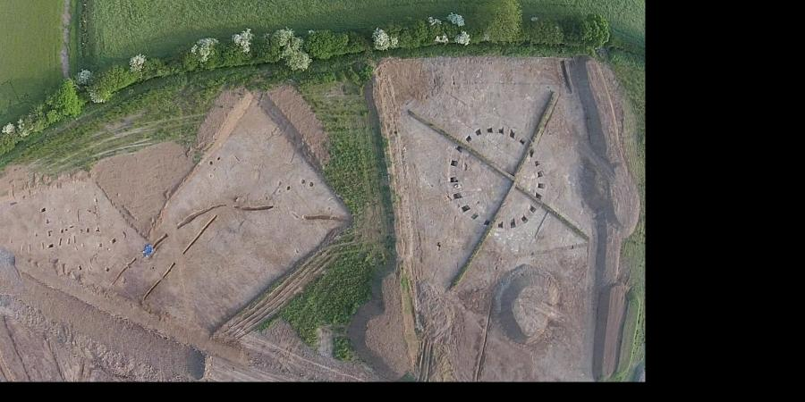 UAV image of part of Sherford New Town site