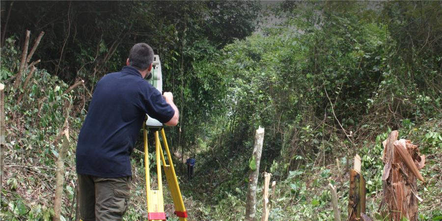 Undertaking a topographic survey