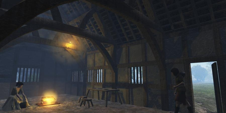 3d reconstruction of a medieval building