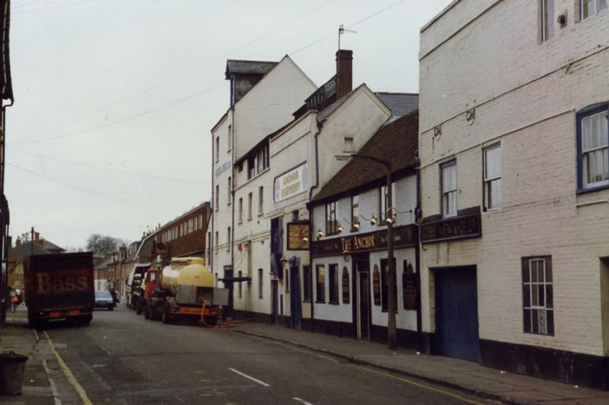 Gigant Street before the Anchor Brewery excavations
