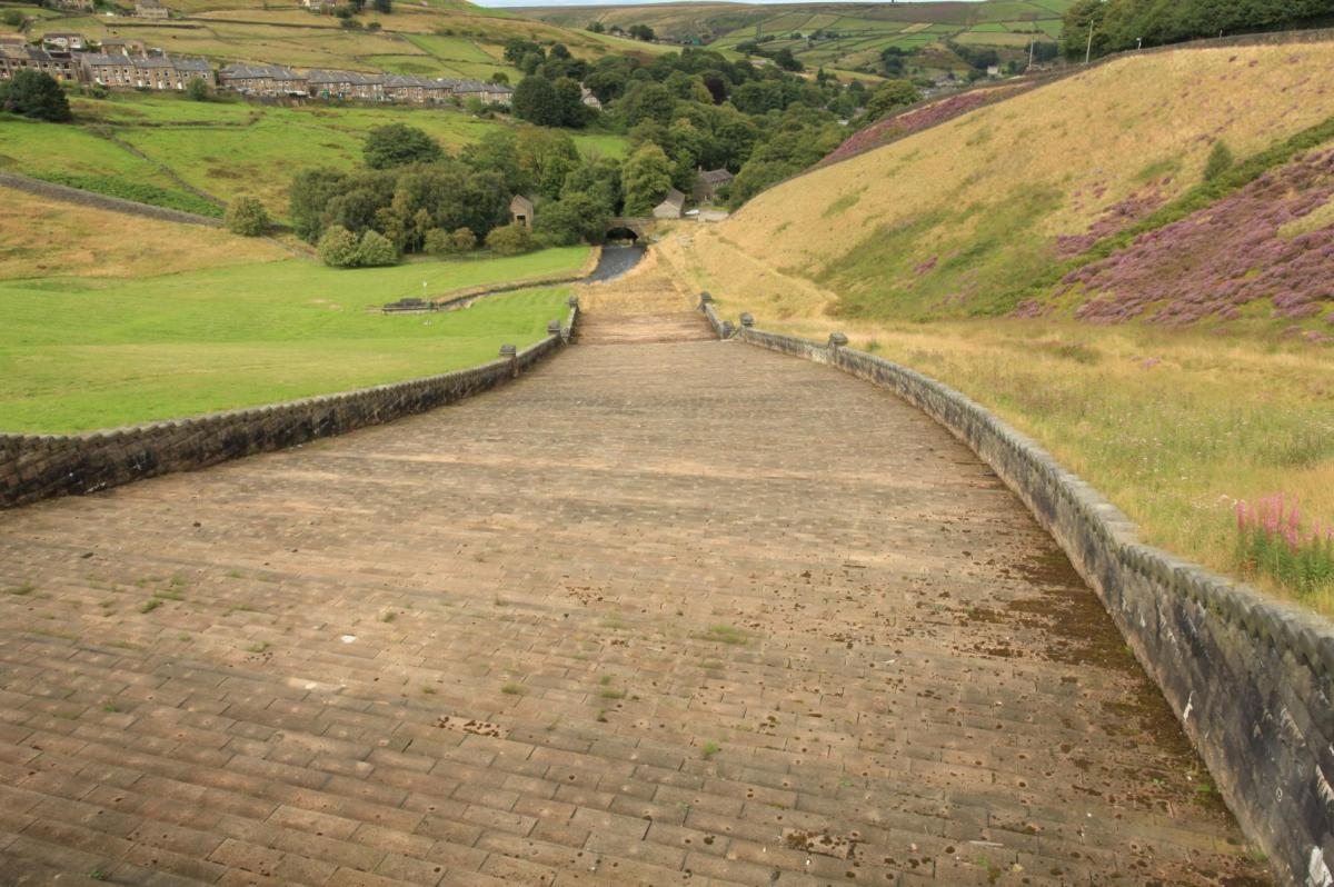 Looking down Butterley spillway