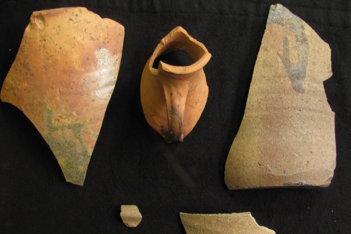13th and 14th century pottery from the site