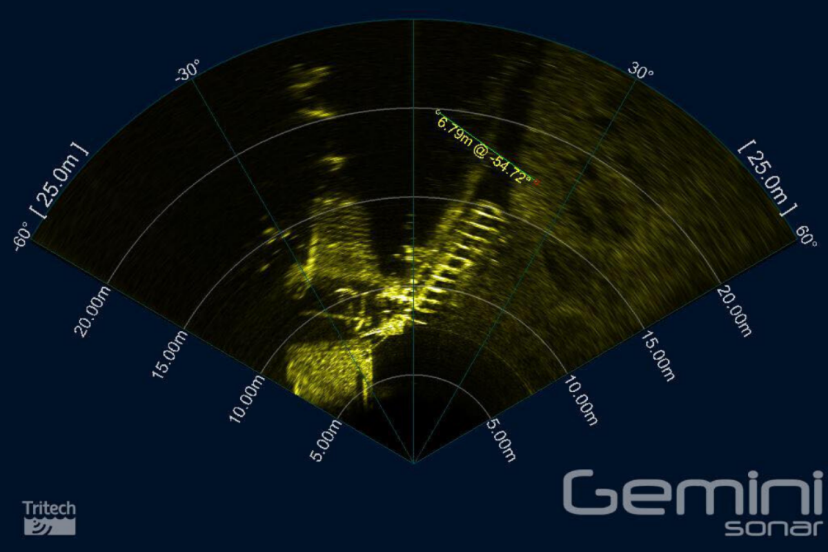 Sonar imagery from the Exercise Tiger site