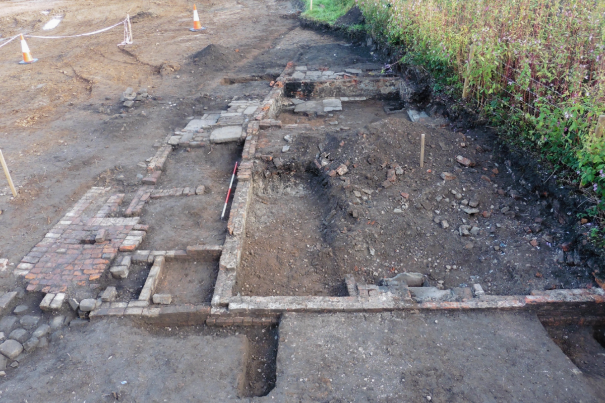 Photo of the toll house found during excavations on the Manchester Airport Relief Road