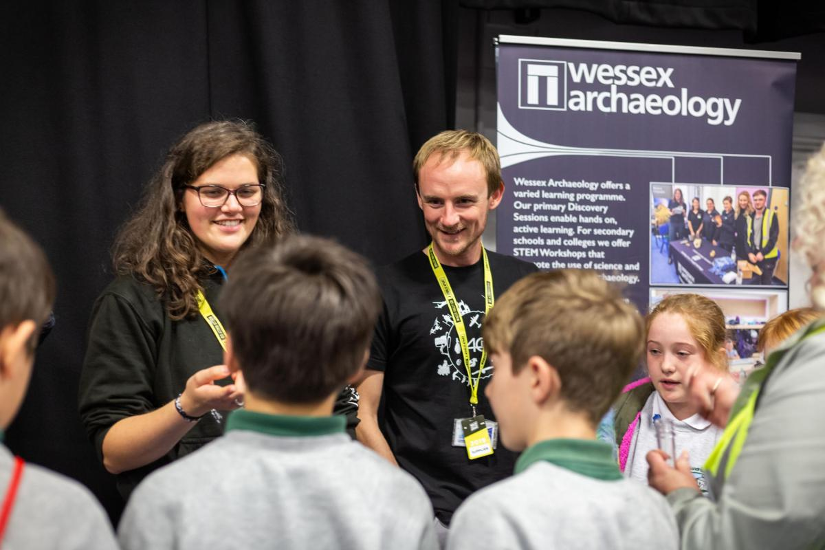 The Wessex Archaeology Community and Engagement Team at the Big Bang Fair