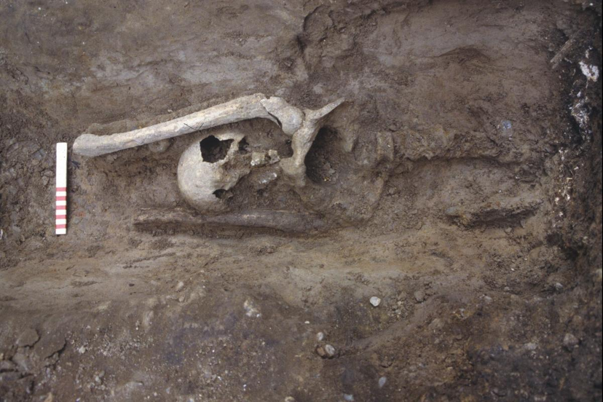 Roman burial at Fenchurch
