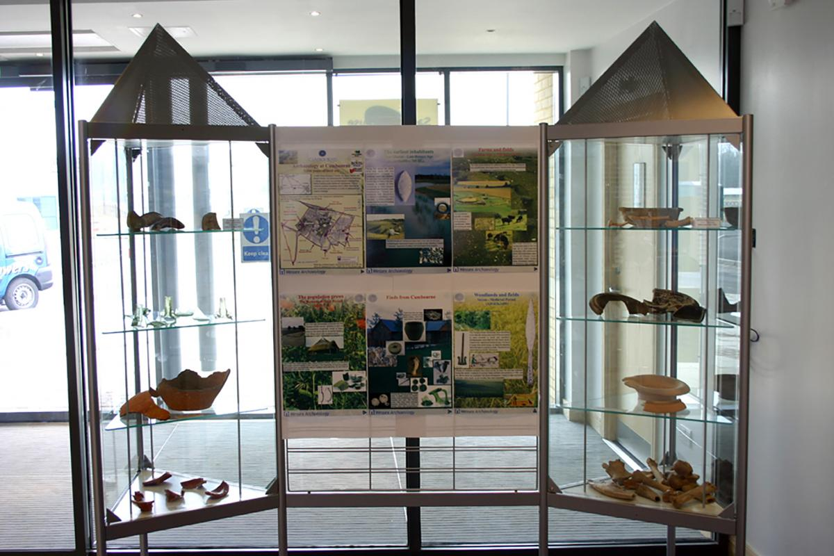 Exhibition and Displays from Wessex Archaeology Glass Cabinets