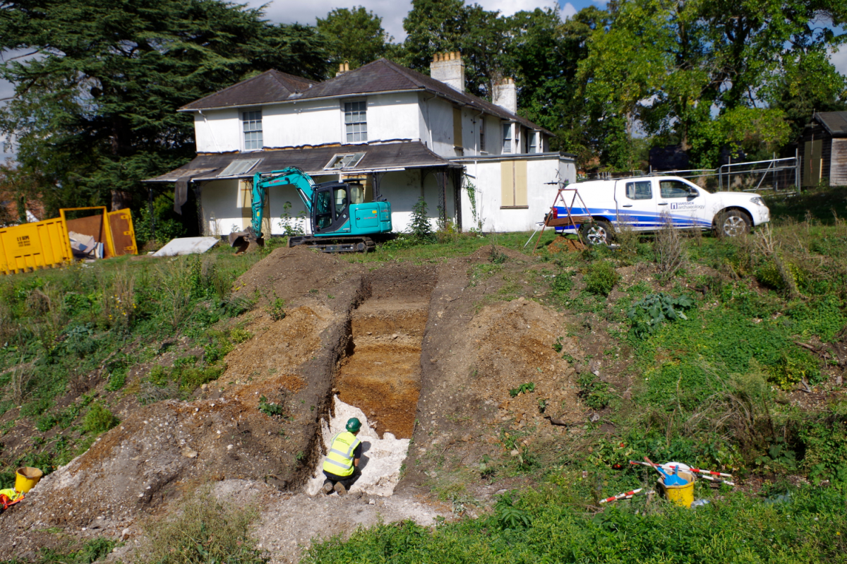 Excavations at the former Youth Hostel