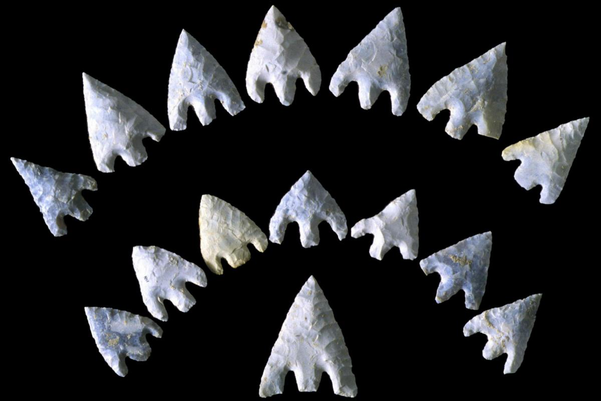 Flint barb and tang arrowheads from the Amebury Archer grave