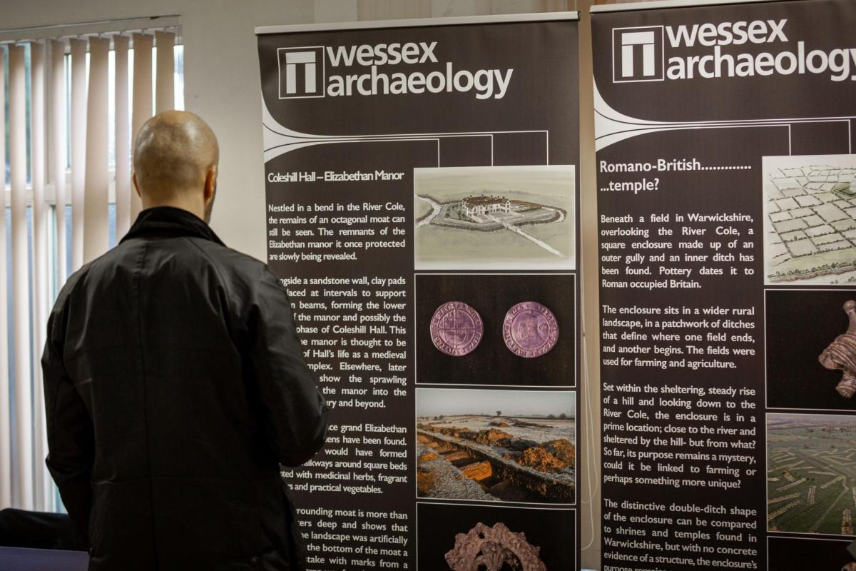 Heritage Interpretation from Wessex Archaeology Display Pop Up Banners