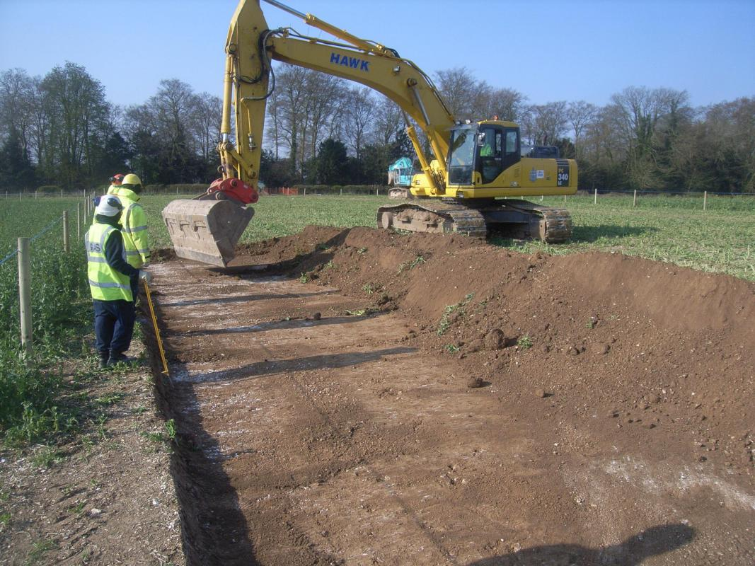 Barton Stacey to Lockerley Gas Pipeline trenching