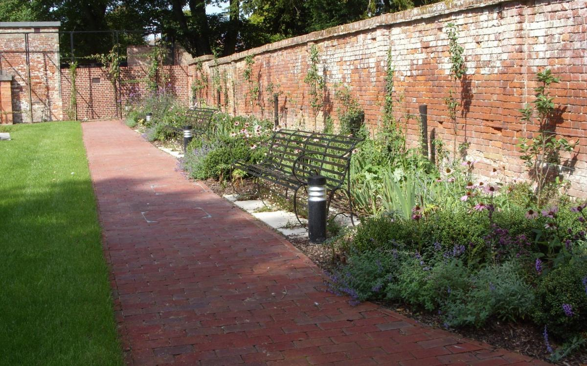 Planting and benches within Bourne Hill gardens