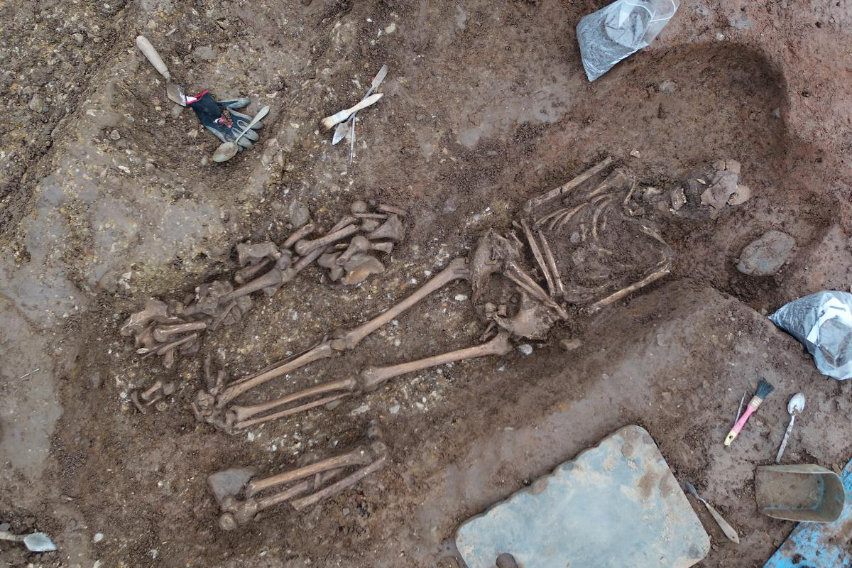 Excavation of a burial at Yatton: A trackway to the past