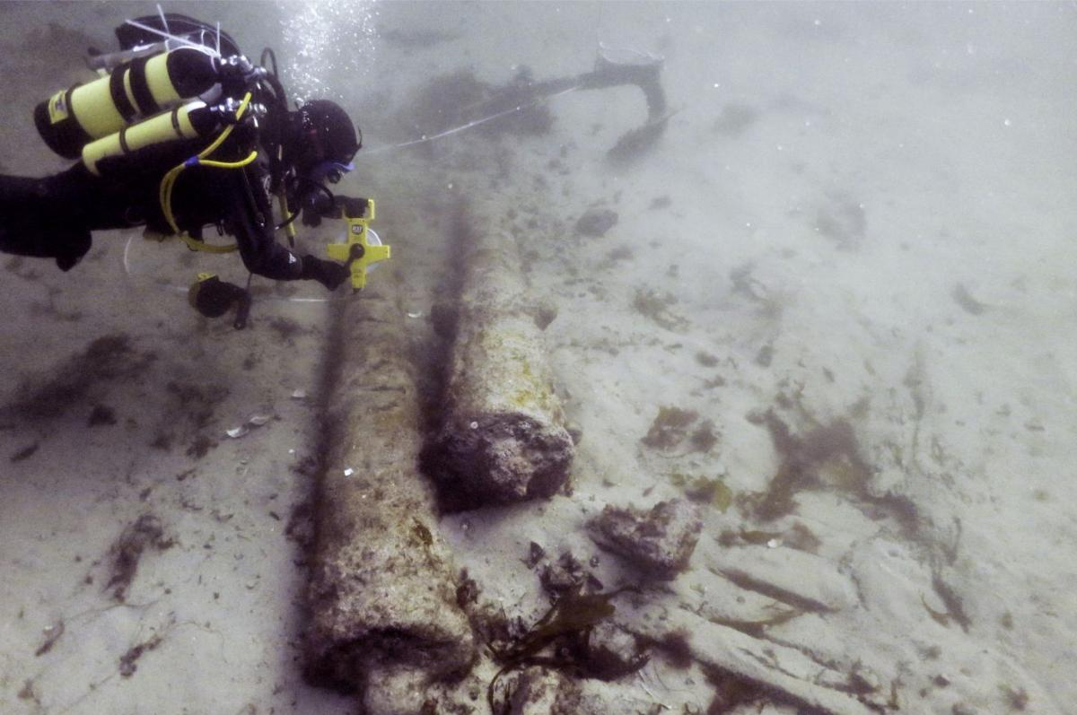 Recording cannons on Drumbeg wreck site