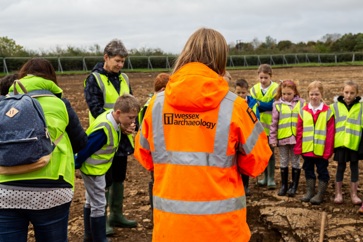 Sharing archaeology with the public: at the core of Wessex Archaeology's work