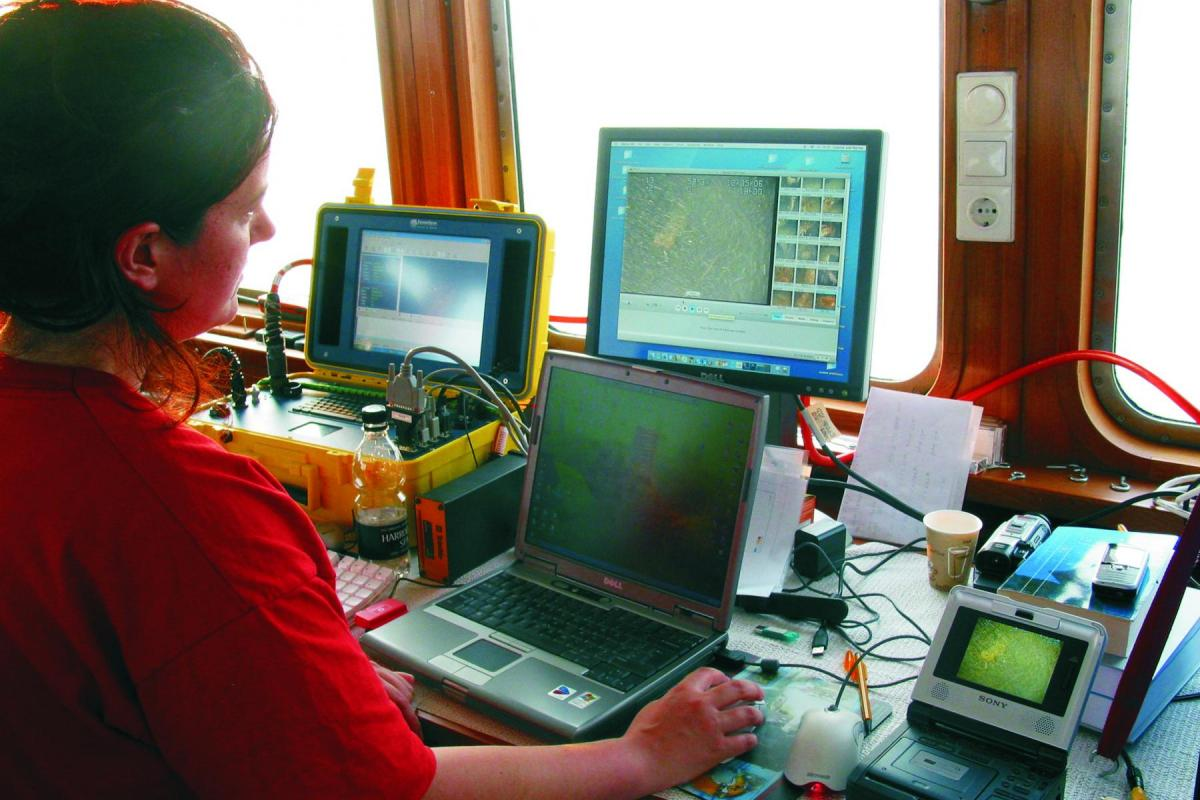 Retained Archaeologist: tracking data from a remote sensor vehicle (ROV)