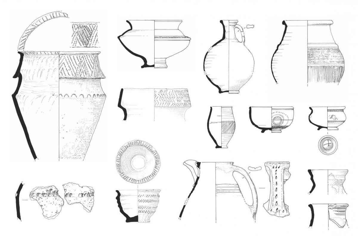 Selection of pottery illustrated for publication