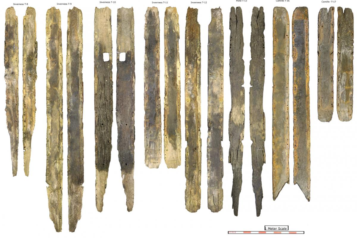 Some of the Galmisdale timbers recorded as part of the Scottish Underwater Archaeological Services project