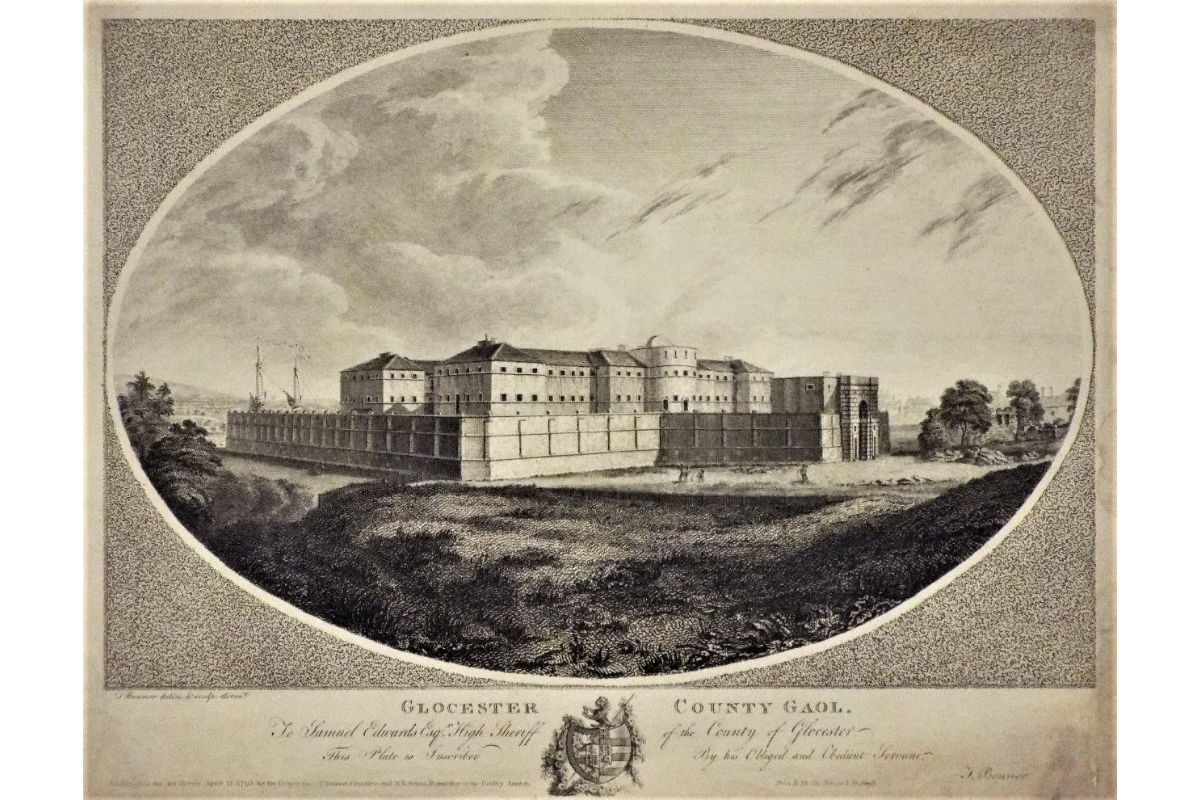 Gloucester County Gaol in 1795, by Thomas Bonnor