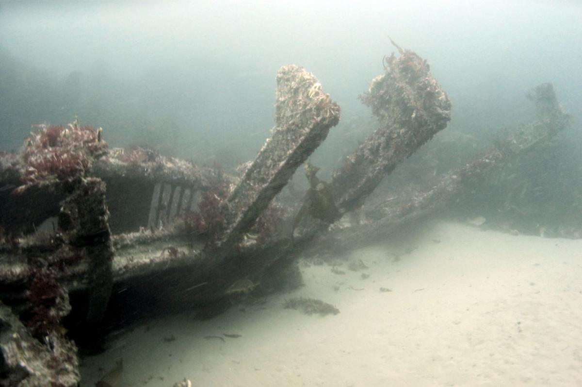 Wreck of the HMS Drake on the seabed