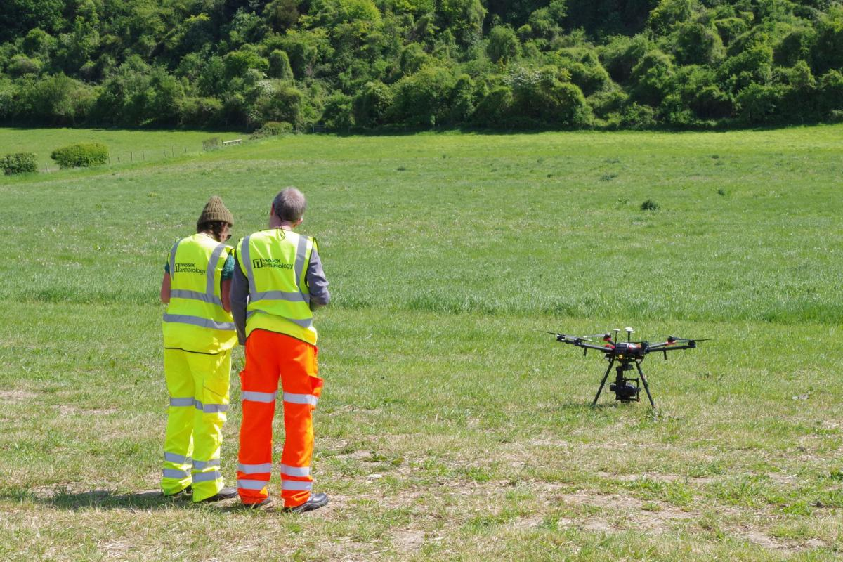 Preparing to fly a UAV
