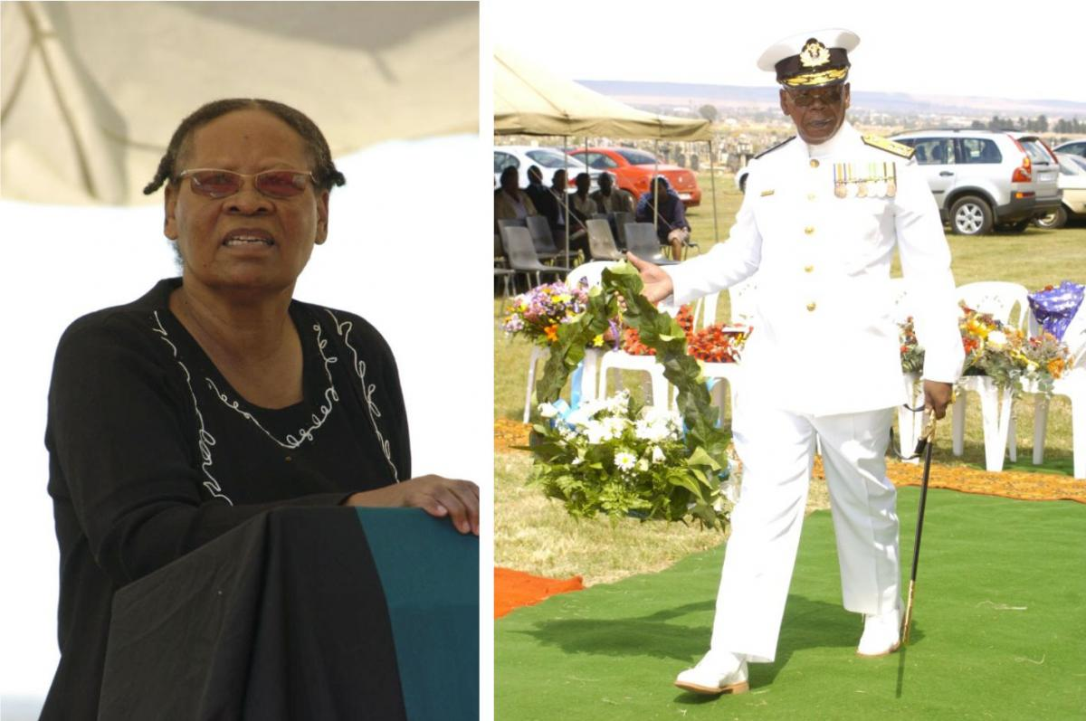 Joyce Kalaute and Adm Magalefa