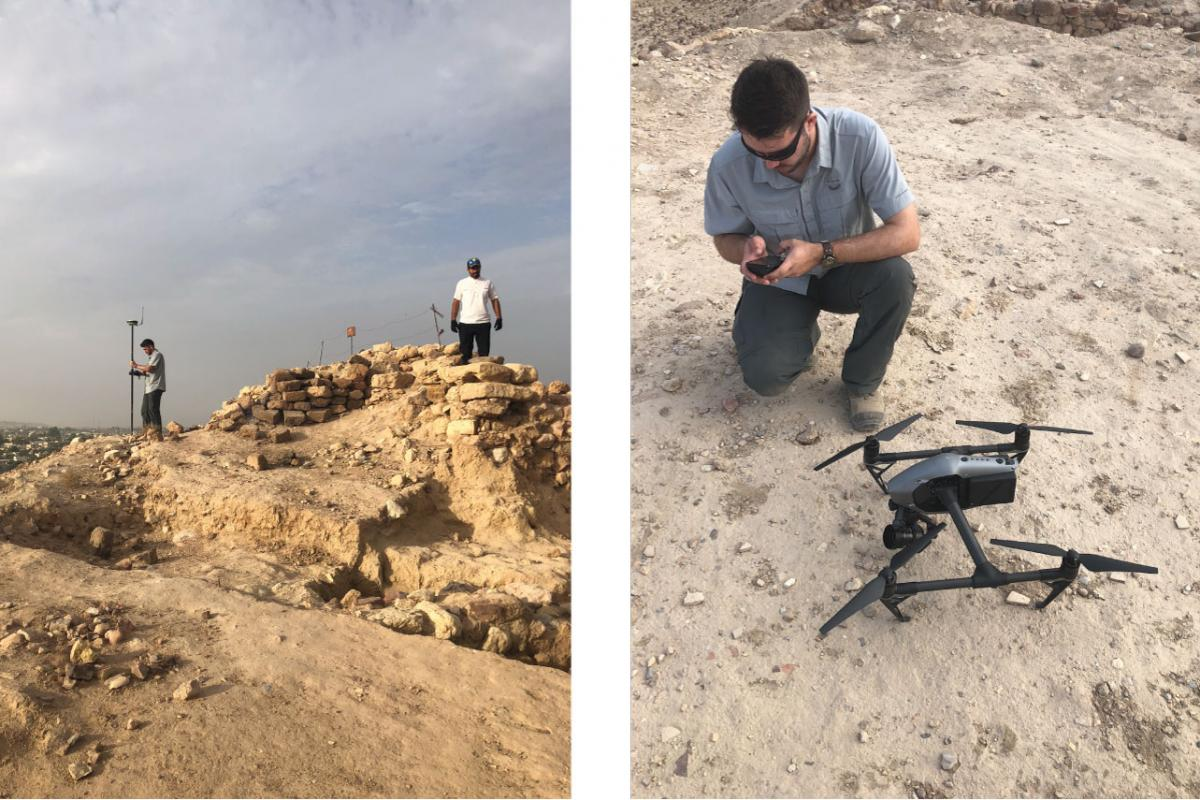 Surveying in UAV targets with a GPS and preparing to fly the UAV