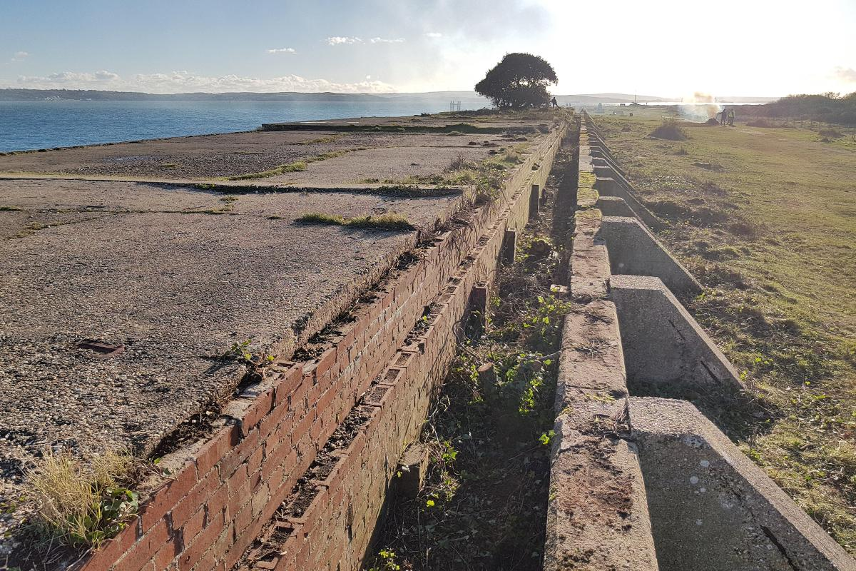 Lepe D-Day WWII remains on shoreline