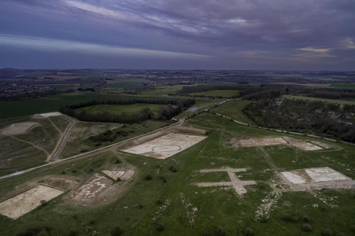 The site at Larkhill, image captured by Rob Rawcliffe of FIDES Flare Media Ltd