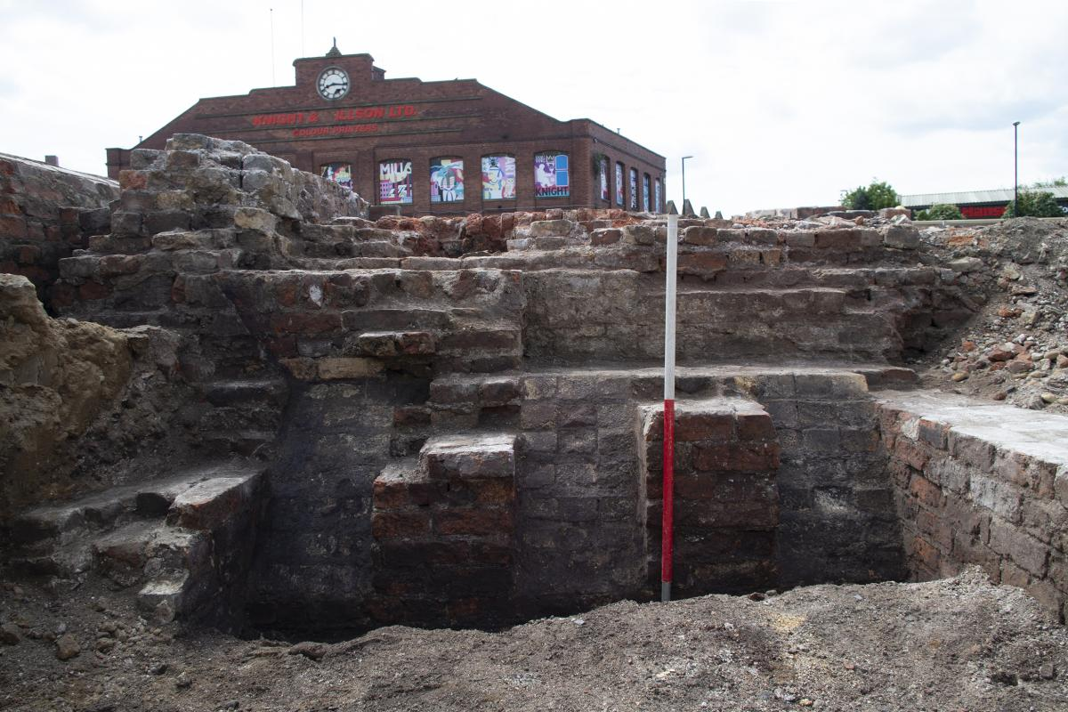 Excavations at Marshall's Mills, Leeds - Brick mill structure