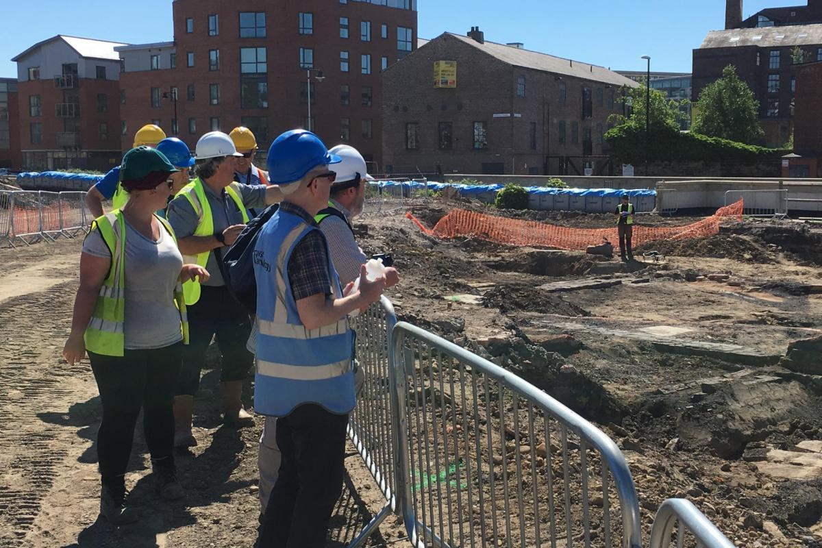 Excavations at Marshall's Mills, Leeds - Site Tour Community Engagement