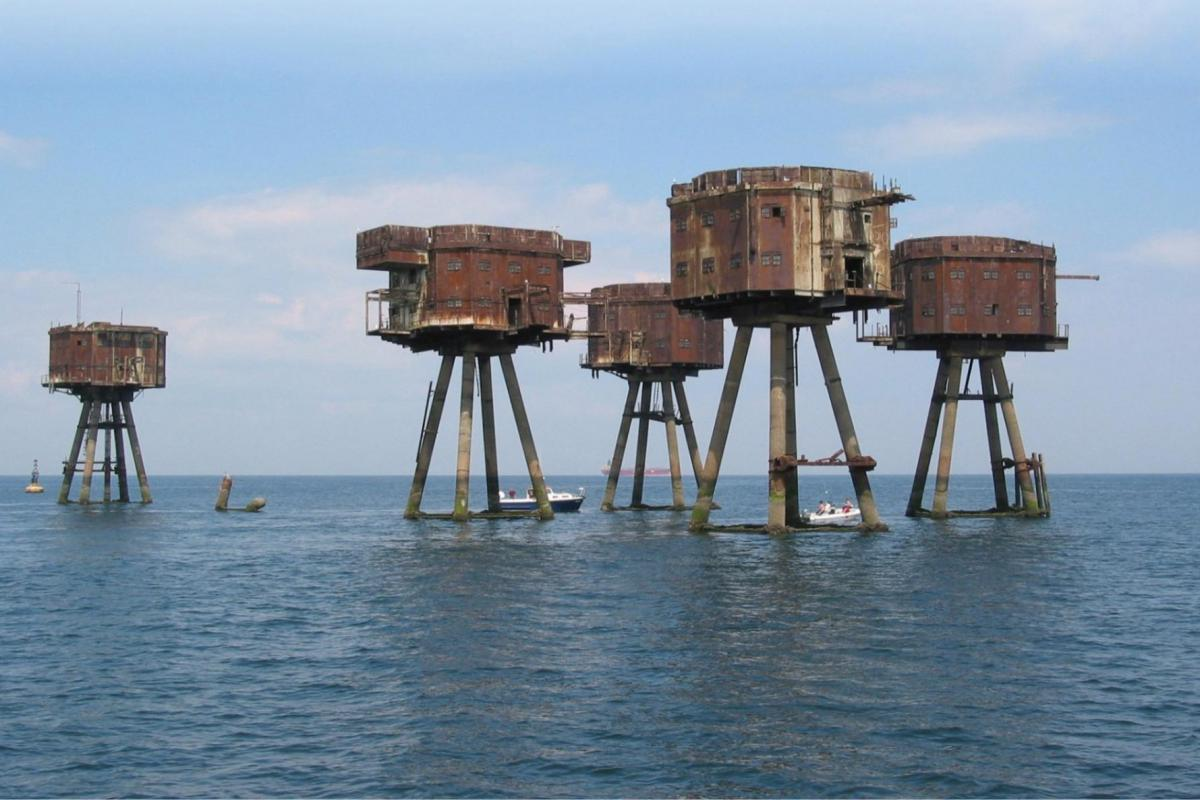 Maunsell Sea Forts in the Thames approach to DP World London Gateway