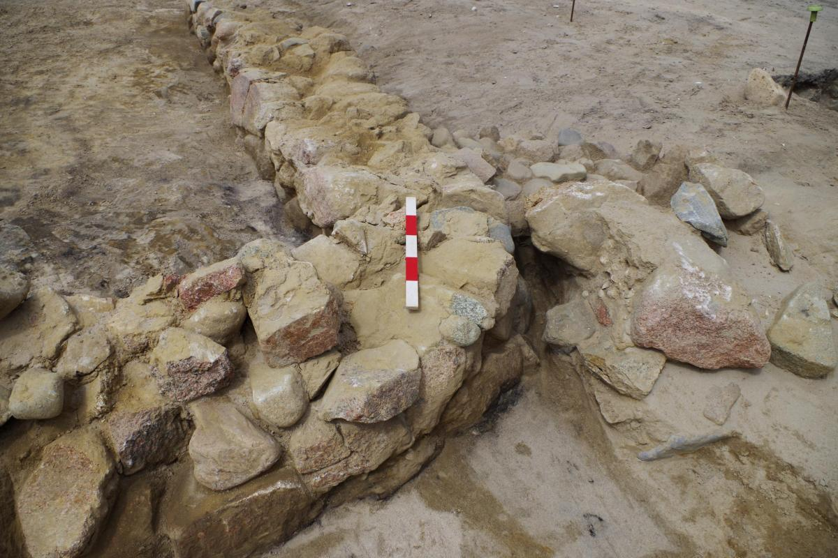 Medieval wall remains uncovered in Grouville, Jersey