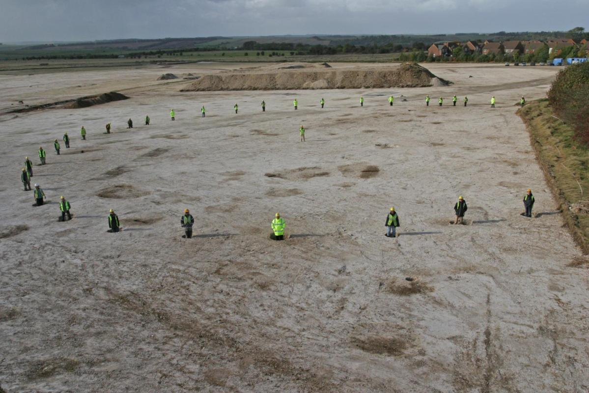 Neolithic Pit or timber circle from Amesbury Down